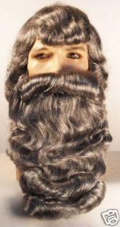 Claus Wig & Beard Set   Black African American   Lacey of New York
