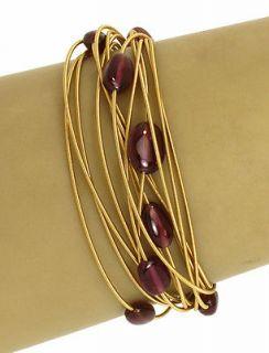 marco bicego 18k gold ruby beads 14 rows ladies bracelet