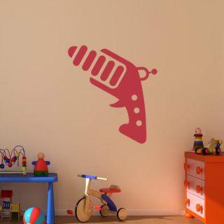 Ray Gun Vinyl Wall Art Sticker Kids Childrens Bedroom Decal PI078