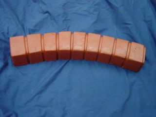 BRICK CURVED BORDER EDGING CONCRETE STEPPING STONE MOLD 5012
