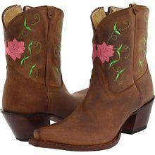 NIB Womens Tony Lama VF3028 Western Fashion Ankle Boots With Pink