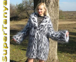 New Hand Knitted Mohair Sweater, Thick Coat, Extra Fuzzy Cardigan by