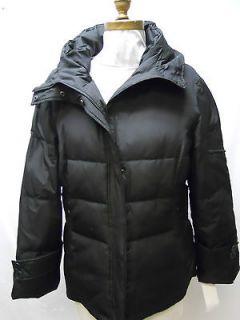 New Calvin Klein Womens Black Puffer Down Fleece Lined Long Winter