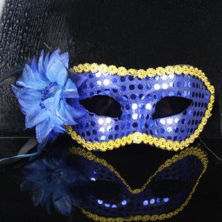 Flower Mask Mardi Gras Venetian Halloween Masquerade Costume Party
