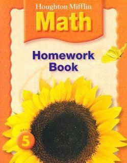 HM Math Homework Book Grade 5 2006, Paperback