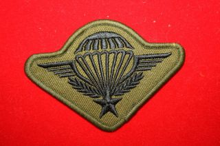 GENUINE FRENCH FOREIGN LEGION ARMY CLOTH SUBDUED PARACHUTE WING