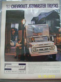 Vintage 62 Chevrolete Jobmaster Trucks Ad Series 60 Cab Refrigerated