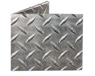 Dynomighty DIAMOND PLATE MIGHTY WALLET looks like metal made of tyvek