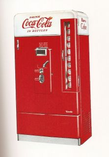 Vendo 110 with the small coin door Coke Machine Restoration Manual