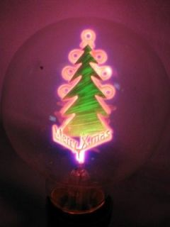 Aerolux Style Neon Glow Lamp Merry Xmas Tree Filament Light Bulb