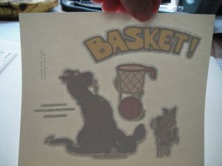Scooby Doo 1990s Iron on. T shirt transfer. Scrappy. Basketball