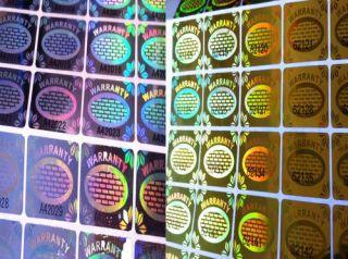 Warranty Void Tamper Proof Security Seal Hologram label Sticker   UK