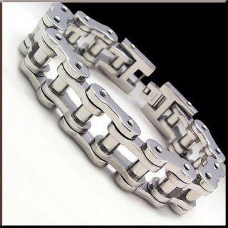 COOL HEAVY BIKE CHAIN Stainless Steel Link Bracelet 8.8 17mm 135g