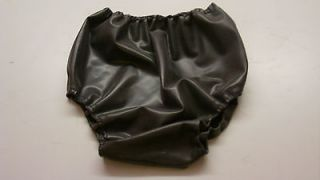 Latex baby san pants metallic pewter rubber sissy adult size