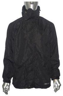 Mens Location Black Fleece Lined Waterproof Balaclava Rain Hooded