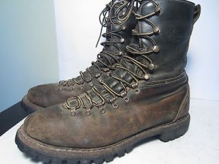 Vintage Herman Survivor Hiking Work Motorcycle Leather Boots Size 10