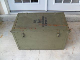 vintage vietnam issue wooden military storage box  75 00