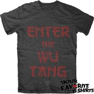 Wu Tang Clan Enter The Wu Tang Officially Licensed Adult Shirt S XL