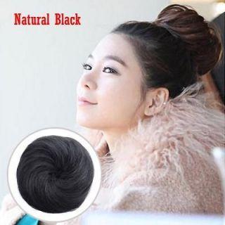 1Pcs New Fashion Korean Young Girl Bun Synthetic Wig Hairpiece