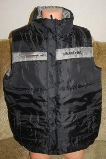 New Mens Authentic Mark Ecko Unltd Black Zip Bubble Vest $80 2XL