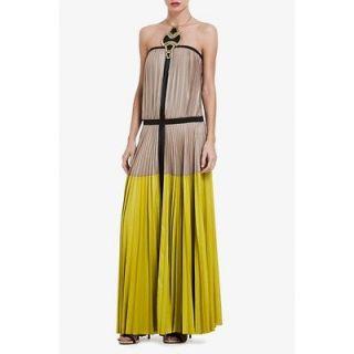 Fashion BCBG MaxAzria LILYAN LONG COLOR BLOCKED DRESS Size XS