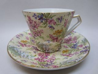lord nelson ware chintz heather 2750 made in england tea