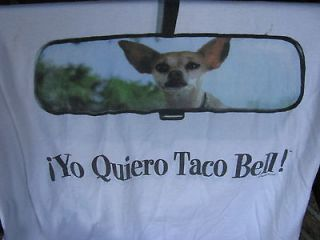 Newly listed T Shirt Yo Quiero TACO BELL restaurant Chihuahua dog