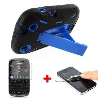 Newly listed Black Blue Armor Case Kickstand for BlackBerry Curve 9310