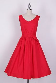 50s Audrey Hepburn Style Red Dress PlusSize 2X Pinup Vintage Swing