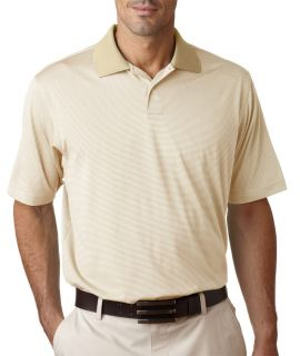 Clearance A19 Adidas Cream 2XL ClimaCool Stripe Polo Blow Out Sale