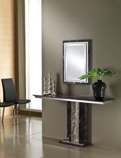 Table Lavamar Crystal Stone Celtic Console Hall Table & Mirror Set