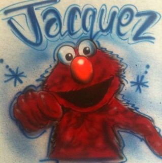 AIRBRUSH Elmo Coolie Monster Miss Piggy Kermit T SHIRT AIRBRUSHED