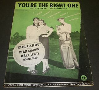 MUSIC Youre the Right One THE CADDY Jerry Lewis Dean Martin 1953