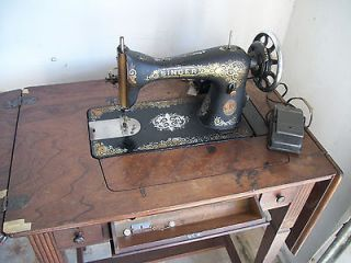 vintage 1920 s singer sewing machine with wood cabinett returns
