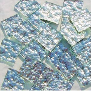 Silver Granite Mirror Mosaic Glass Tiles   Squares, Diamonds, Border
