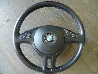 genuine bmw sport black leather steering wheel e46 m3 e39