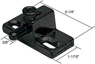 black slide bolt patio door lock  5