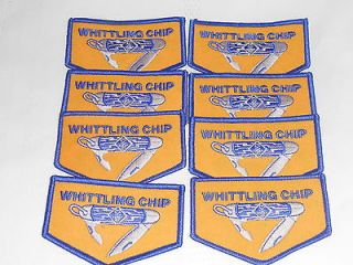 WHITTLING CHIP BSA Boy Cub Scout KNIFE Embroidered PATCH EACH