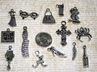 LEAD FREE 14pc Pretty Little Liars Inspired Charms Lot scrapbooking