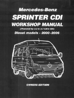 Mercedes Benz Sprinter CDI Workshop Manu