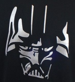 New! Black Darth Vader Silhouette Silver Star Wars Shirt T Tshirt Mens