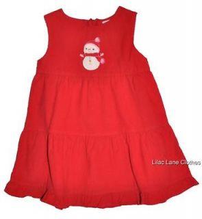 Gymboree Cozy Cutie Red Corduroy Snowman Christmas Jumper NWT 6 12 18