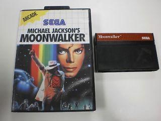 Michael Jacksons Moonwalker for Sega Master System Game No Ins