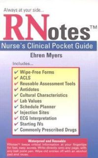 Nurses Clinical Pocket Guide by Ehren Myers 2003, Hardcover