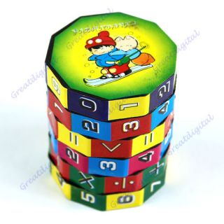 New Children Kids Mathematics Numbers Magic Rubiks Cube Toy Puzzle