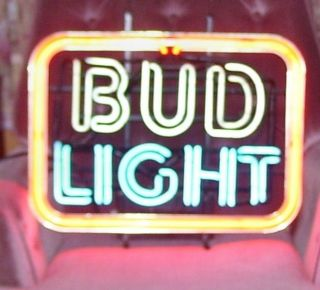 Vintage Lighted Budweiser Beer Bud Light Neon Sign Works Perfect