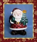 Ceramic Santa Claus Folk Cookie Jar Marshall Fields