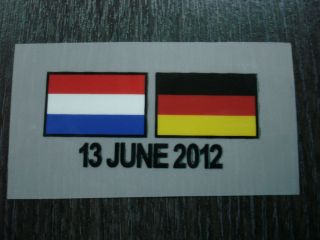 NEW HOLLAND NETHERLAND EURO 2012 Match Details DECALS for Jersey