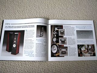 thiel 2004 speaker full product line brochure from canada time