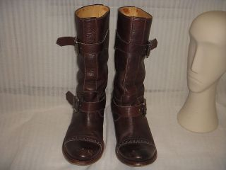 sendra buckle motorcycle boots men size 8 5